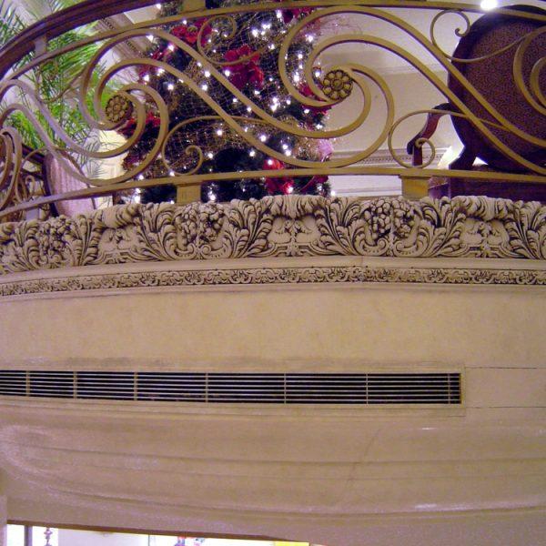 Difusor perimetral curvo DP1812 en balcon - Hotel SafiJPG